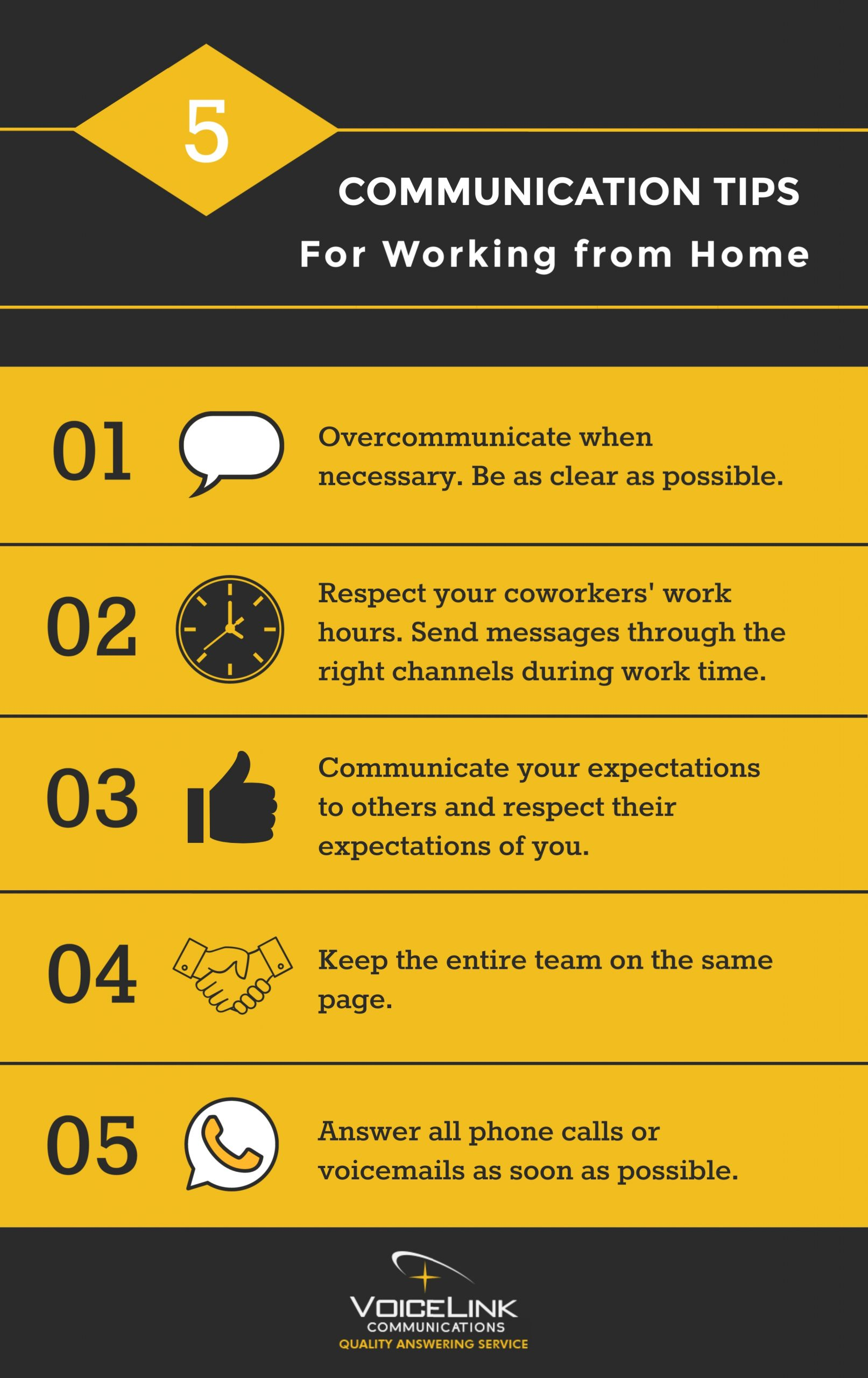 5 Communication Tips for Working from Home VoiceLink Communications